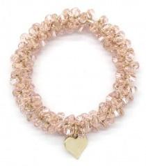Haarelastiek Beads | Licht bruin