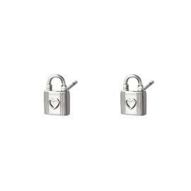 Oorbellen Lock| Zilver