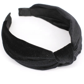 Haarband geknoopt Velvet Black