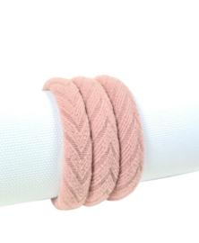 Haarelastiek Knitted | Oud Roze
