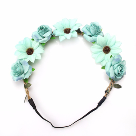 Haarband Flower Blue