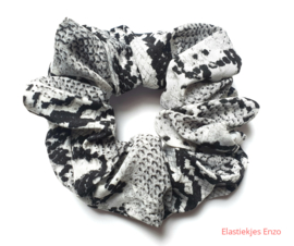 Snake Scrunchie Grey