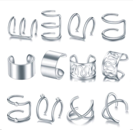 Set Ear Cuffs | Zilver