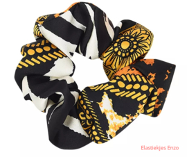 Scrunchie Printed| Yellow