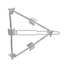 Haarspeld driehoek arrow Zilver