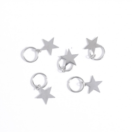 Hair ring Ster Zilver