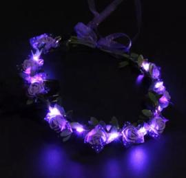 LED Hoofdband 'Roos' | Paars