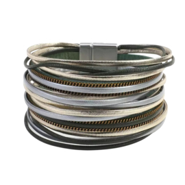 Magneet armband breed   Green