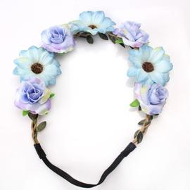 Haarband Flower Blue Ocean