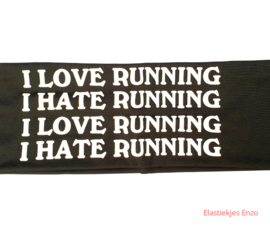 "Sport haarband ""I LOVE RUNNING"""