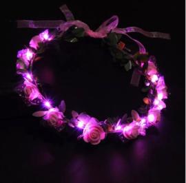 LED Hoofdband 'Roos' | Roze