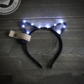 LED Diadeem 'Black & White Cat'
