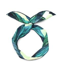 Haarband Leaves Green