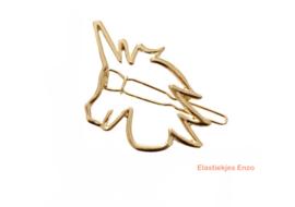 Haarspeld Unicorn Goud