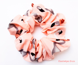 Scrunchie Flamingo Pink