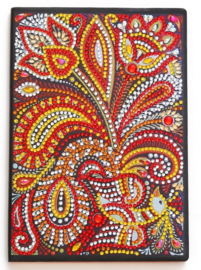 Diamond Painting Notebook | Peacock Red