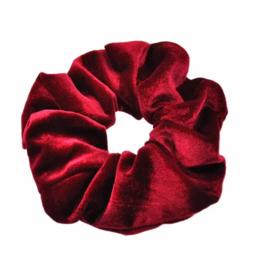 Velvet Scrunchie Wine Red
