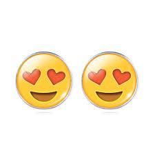 "Oorbel Emoji ""Smiling Face with Heart-Shaped Eyes"""