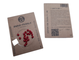 Braid Pearls| Red
