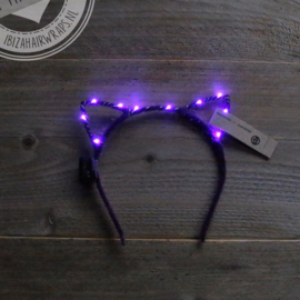 LED Diadeem 'Purple Cat'