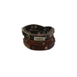 LMNTL |  Armband Wrap Studs | Brown