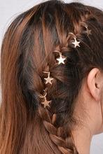 Hair ring Ster Goud