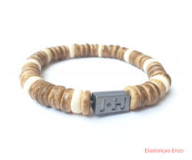 I*H Bracelet| Coconut Beads Natural  'Bonaire'