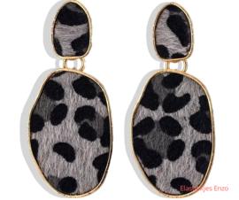 Oorbel Leopard Fur Grey