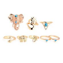 Ring Set Olifant Goud (S/M)