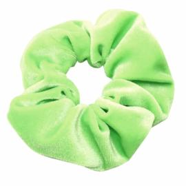 Velvet Neon Scrunchie   Green