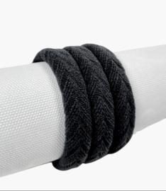 Haarelastiek Knitted | Black