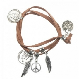 Armband Coin Brown
