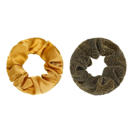 Scrunchie Set of Two |  Gold