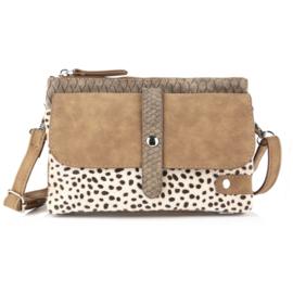 Cheetah Beige schoudertasje