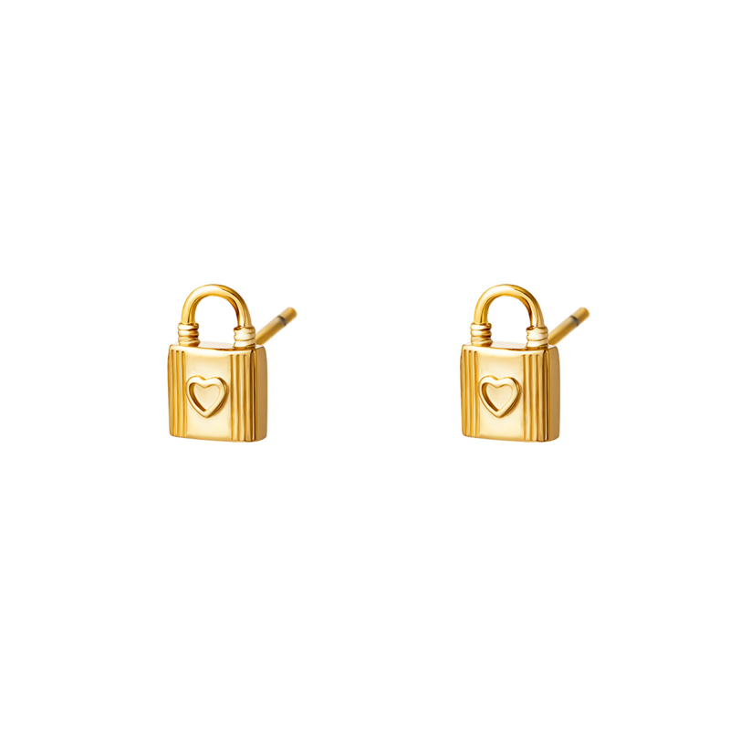 Oorbellen Lock| Goud