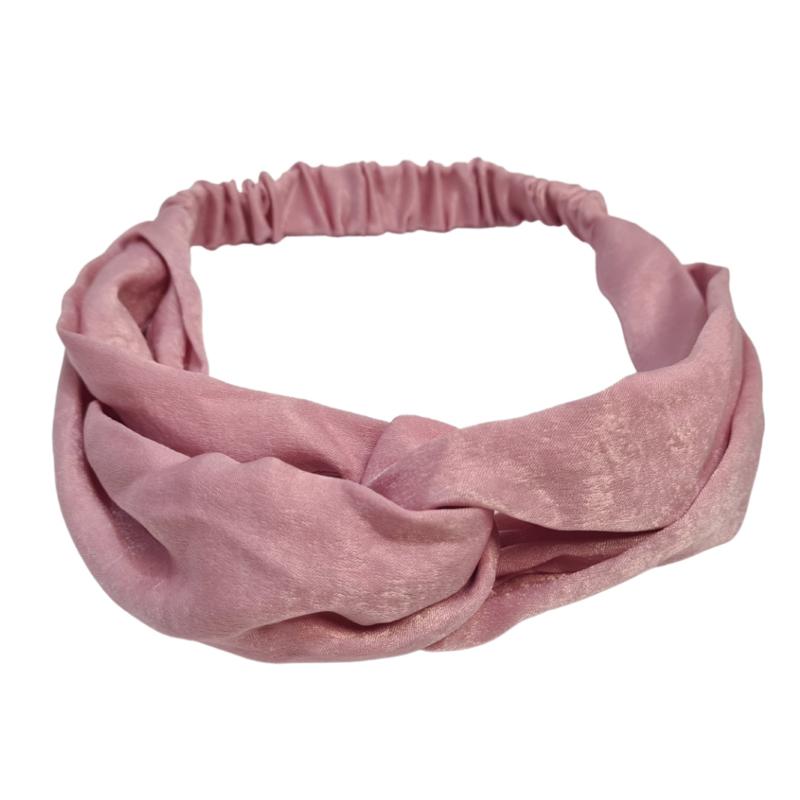 Haarband Silk Cross   Pink