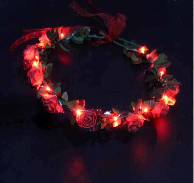 LED Hoofdband 'Roos'   Rood