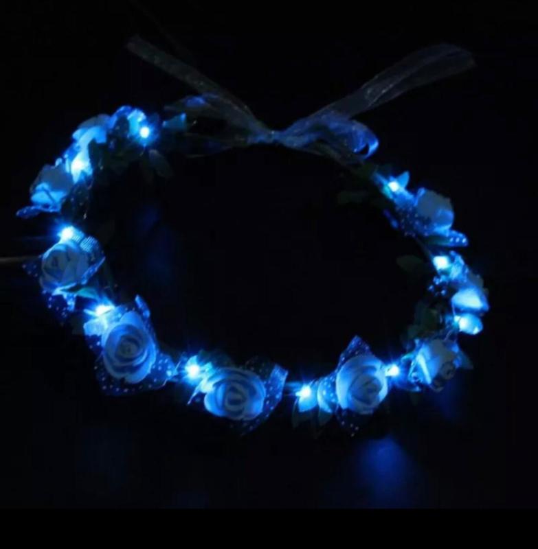LED Hoofdband 'Roos' | Blauw