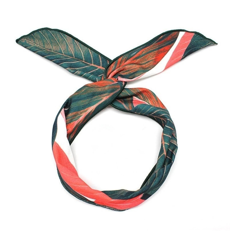 Haarband Leaves Red