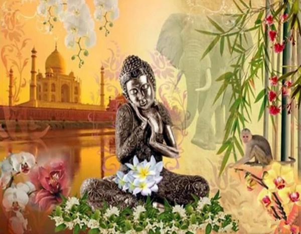 Diamond Painting set | Buddha Lotus