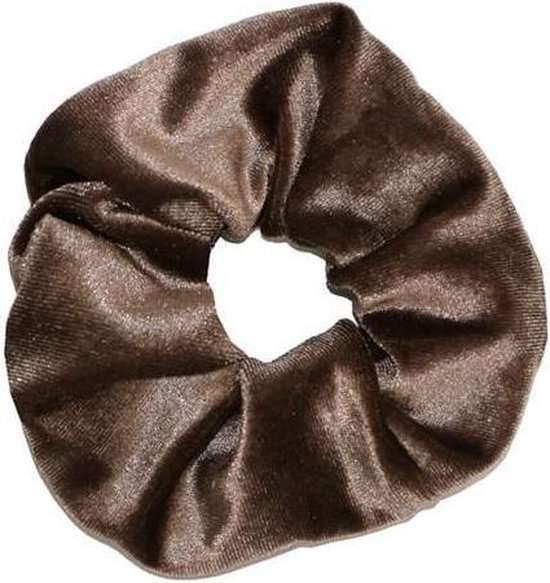 Velvet Scrunchie  Brown