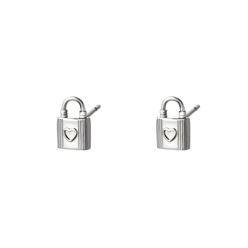 Oorbellen Lock  Zilver