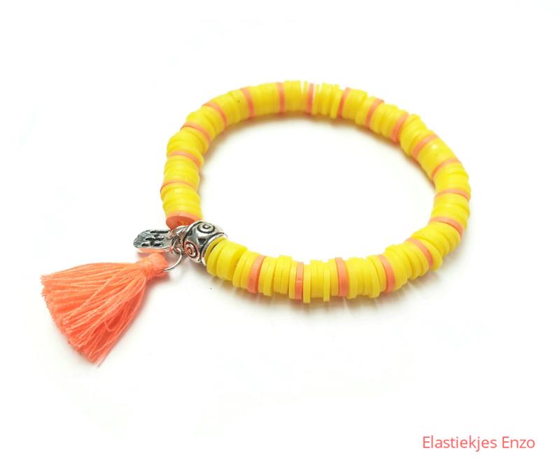 Armbandje Color Kids♡ Yellow Zebra