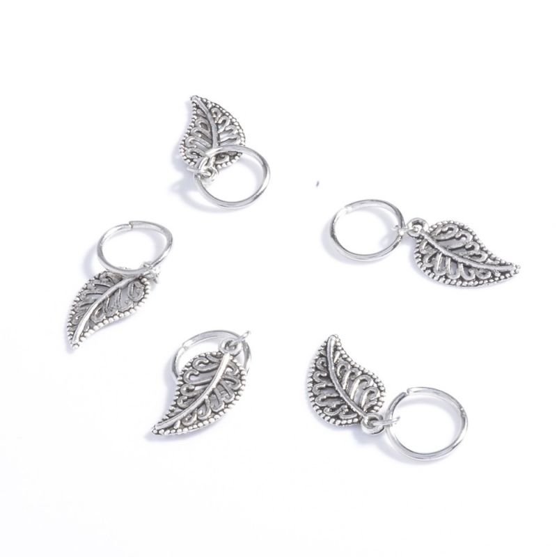 Hair ring Leave Zilver