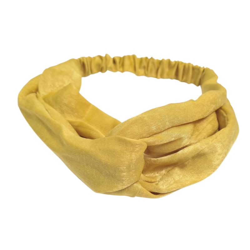 Haarband Silk Cross   Oker