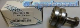 SSLJ25-E-NS Hepco geleiderol met V groef in RVS