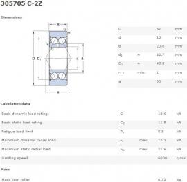 305705C-2Z SKF (LR5205X-2Z)