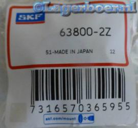 63800-2Z SKF (=61800-2Z/W7)