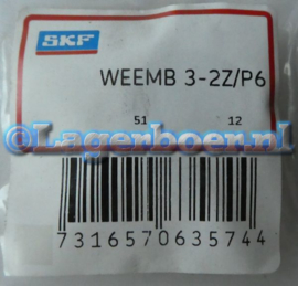 """WEE3MB-2Z/P6 KLNJ-3/8""""-2Z SKF (=R6-2Z)"""