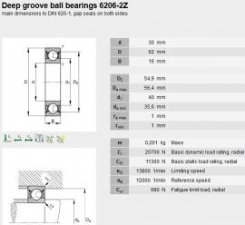 6206-ZS/P53 FAG (Gepaarde set van 2)